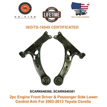 2pc Front Driver & Passenger Side Lower  Control Arm For 03 - 13 Toyota ... - $114.12