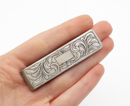 925 Sterling Silver - Vintage Swirl Etched Pattern Square Money Clip - T... - $46.85