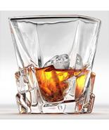 Crystal Whiskey Rocks Glass 300ml, Old Fashioned Glass Cocktail Cup Scot... - $15.00+