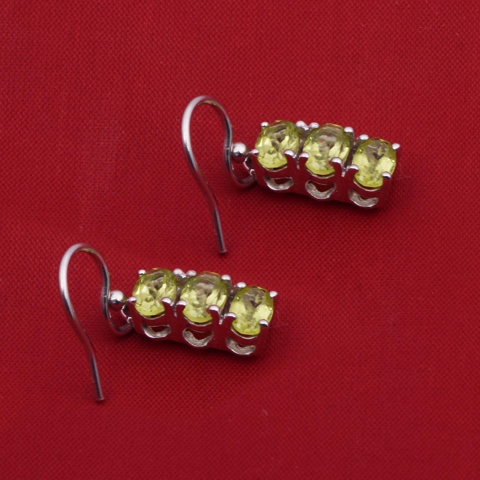 Pretty Peridot 925 Sterling Silver For Women's Earring Shine Jewelry SHER0773