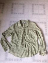 Old Navy XXL Classic Pale Green Geometric Print Long Sleeve Button Down ... - $15.79