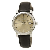 Burberry BU9011 Heritage Brown Swiss Made Leather Mens Watch - $198.00