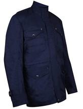 Mens Dean Winchester Supernatural Jensen Ackles Blue Cotton Jacket image 3