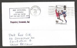 1967 Paquebot Cover, British stamp used in Savannah, Georgia  - $5.00