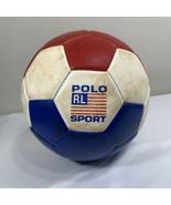 VTG Polo Soccer Ball Ralph Lauren Sport Rawlings Promo Stadium RLX Hi Te... - $34.99