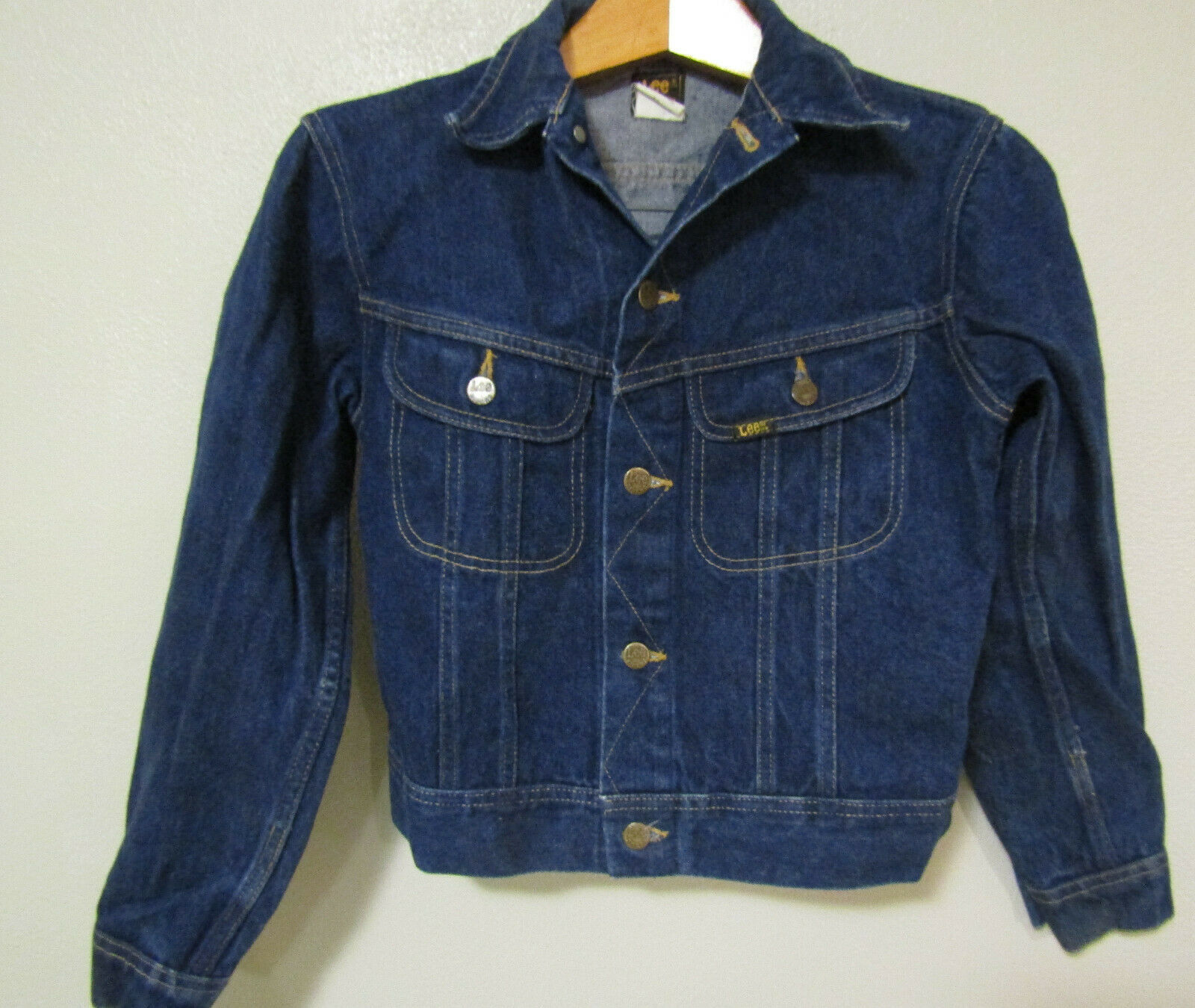 Primary image for Vintage Lee Riders Denim Blue Jeans Jacket Size 16 Boys 100% Cotton Made In USA