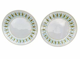 2 Vintage Mikasa Cera-Stone 3119 JAPAN diamond gem pattern saucer - $21.03