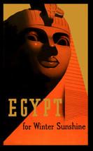 Vintage Art POSTER.Home wall.Egypt Sphinx Sunshine Room Decor.825 - $10.89+