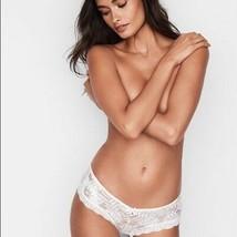 Victoria's Secret Very Sexy Palm Lace Cheeky Panty white shine foil    - $16.15