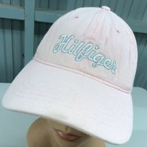 Tommy Hilfiger Pink Strapback Beat Up Baseball Cap Hat - $13.75
