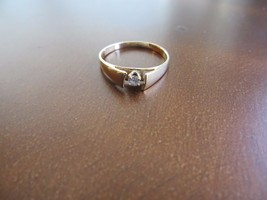 Old Retro 50's 10k Solid Yellow Gold Engagement... - $119.99