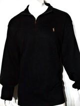 Polo Ralph Lauren size xs men's estate rib mock neck pullover sweater black - $80.55