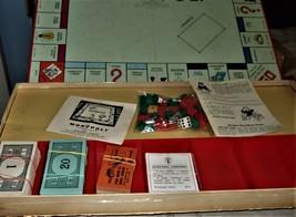 MONOPOLY GAME: Original Box, Game Board, Cards, Money VINTAGE 1957 image 4