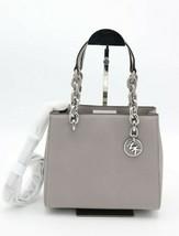 MICHAEL Michael Kors Cynthia Gray Saffiano Leather Small Satchel Crossbody Bag - $178.00