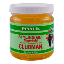 Clubman Pinaud Superhold Styling Gel, 16 oz  (2 pack)