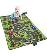 YJ.GWL Kids Carpet Car Play Mat Rug 36'' x 63'' City Life Play Mat for P... - $22.98