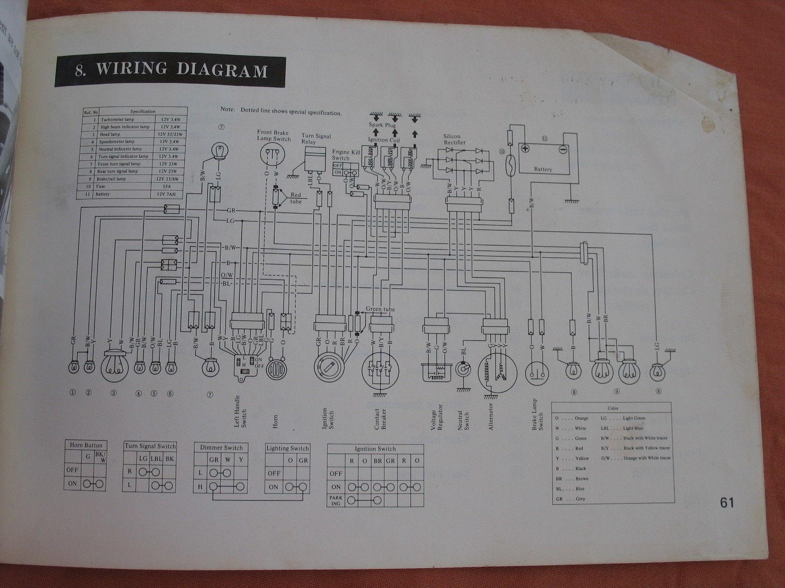 Suzuki Gt380 Wiring Diagram Library Gt750 1973 73 Gt 380 Sebring Owners Manual