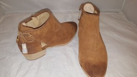 Michael Kors Brown Distressed Leather Cut out Ankle Boots  Size  7,5 M - $92.30