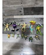 Teenage Mutant Ninja Turtles Mixed  Lot 13 Mini Figures And Medium Actio... - $32.71