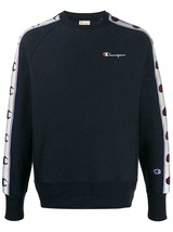Champion Sweatshirt Man Blue Round Crew Neck Logo Regular Fit Vintage - $137.00