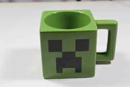 Minecraft Video Game Creeper Face Mug by Jinx, 2013 Green Square Ceramic - $19.47