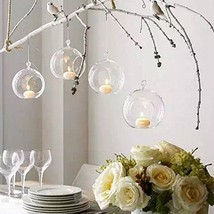 Sziqiqi 80MM Hanging Tealight Holder Glass Globes Terrarium Wedding Cand... - $24.86