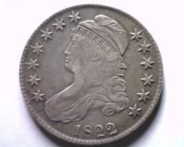 1822/1 BUST HALF DOLLAR O.101 EXTRA FINE XF EXTREMELY FINE EF NICE ORIGI... - $735.00