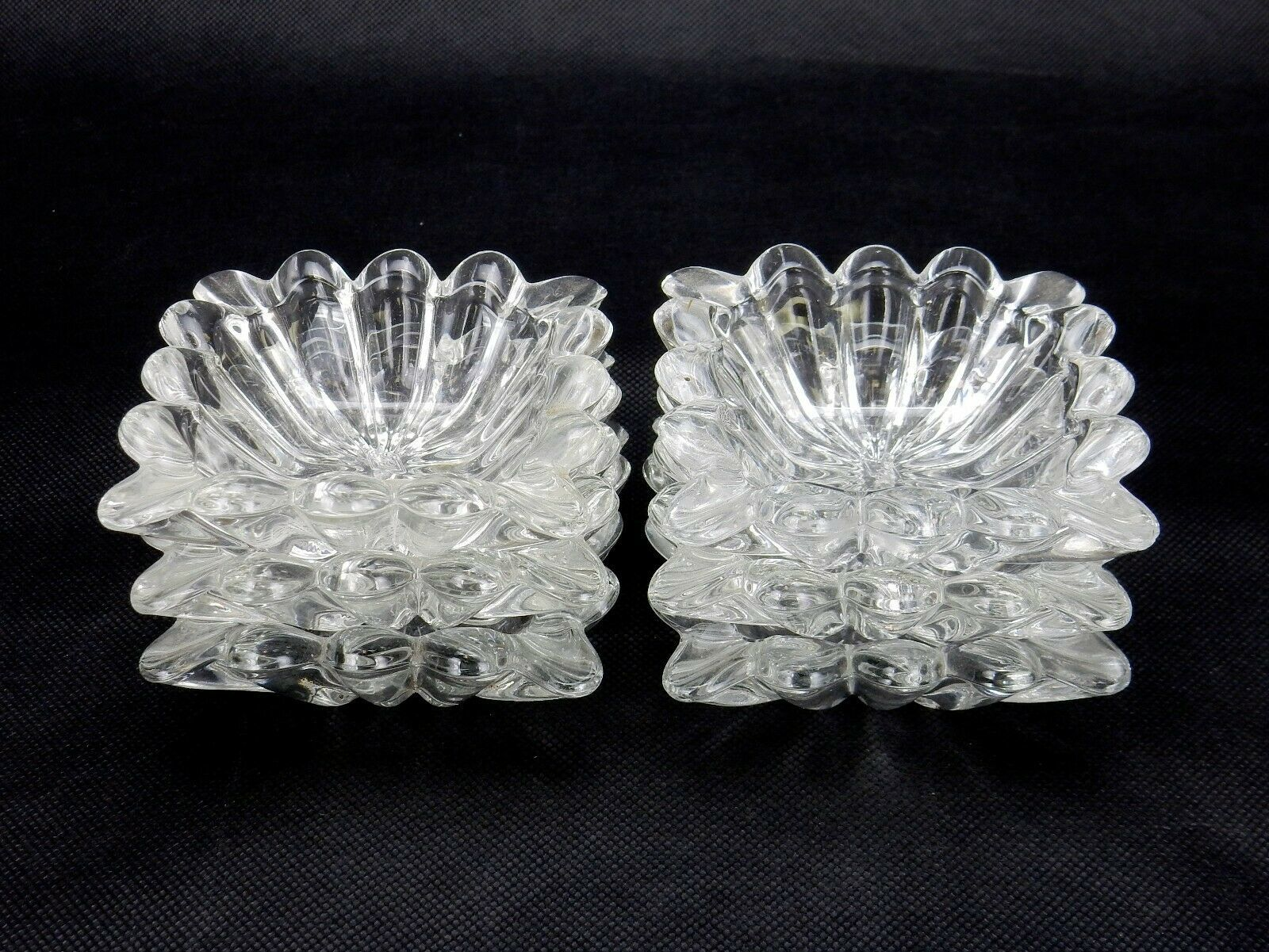 Primary image for Vintage Heisey Ridgeleigh Salts Set of 6 Nut Dish or Open Salt Heisey Set of 6