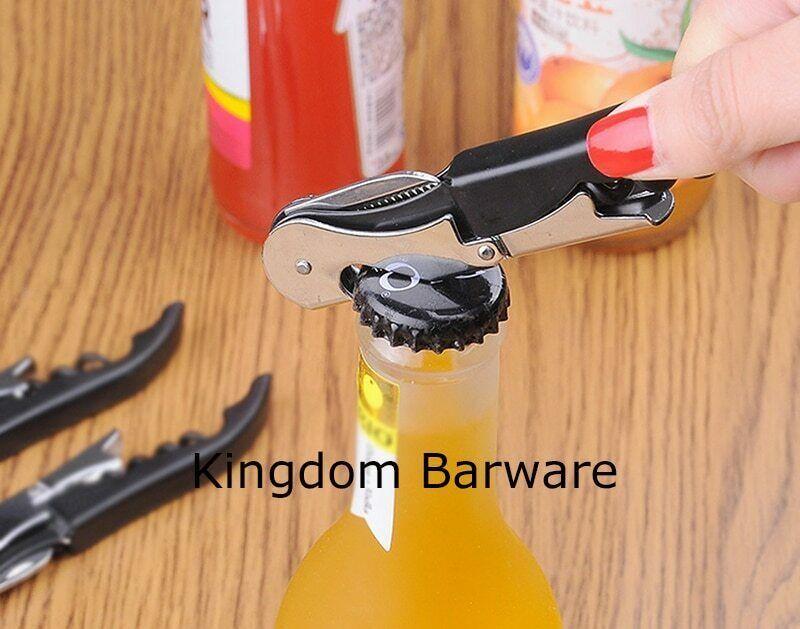 Kingdom® 12PCS/Set Hefty Double Reach Corkscrew Wine Opener Corkscrew Stainless