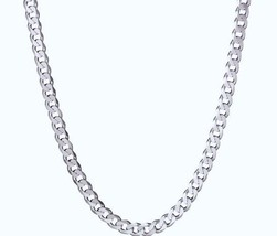 16Gram Sterling Silver.925 Curb Chain Necklace 3.8mm - $40.75