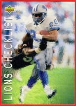 1993 Upper Deck #80 Barry Sanders HOF football card - $0.01