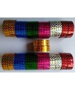 Sparkle glitter tape, for Art & Craft , Decoration 24 TAPE ROLL in multi... - $9.88