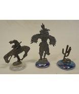Desert Theme Figurines Kokopelli Cowboy Cactus ... - $36.61