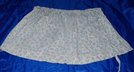 Vintage Girls Hostess Apron Blue Floral 18457 Calico - $9.94