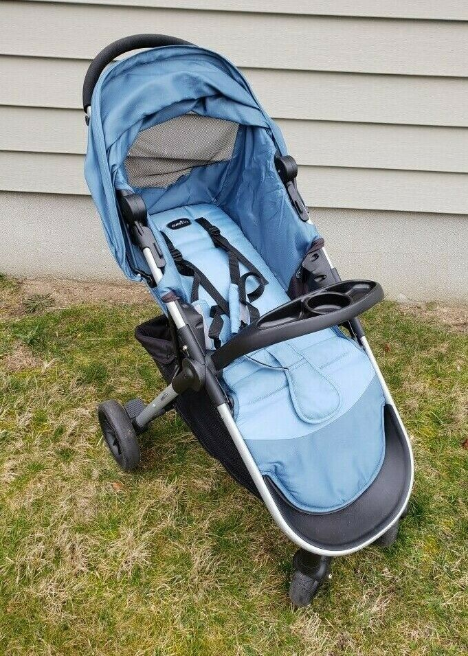 Evenflo Litemax Portable Lightweight Baby Stroller Blue ...