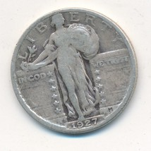 1927-S STANDING LIBERTY SILVER QUARTER-KEY DATE-NICE CIRCULATED 25C-SHIP... - $79.95