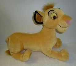 "22"" SIMBA THE LION KING Jumbo 2002 HASBRO Disney Large Plush Stuffed Ani... - $9.74"
