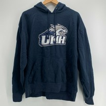 Champion Hoodie Men's Size XL Blue UNH University New Hampshire NCAA Swe... - $25.86