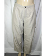 The North Face Womens Sz M Khaki Beige Outdoor Hiking Stow Pocket Pants - $24.71