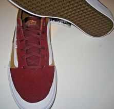 Vans Mens Style 112 Pro Burgundy Medal Bronze Skate Shoes Canvas Suede Size 12  image 3