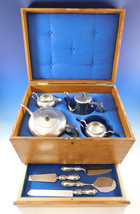English Charles S. Green & Co. Sterling Silver 4-pc Tea Set in Vintage Chest - $4,500.00