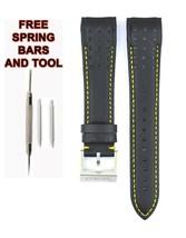 Compatible Seiko Sportura SNAE67J1 21mm Black Genuine Leather Watch Strap SKO112 - $34.65