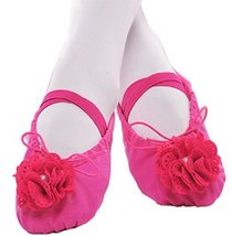 Dance Class Ballet Shoes/Canva Dance Shoes For Pretty Girl (19CM Length)Rose Red