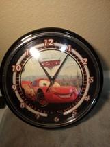 "Disney Pixar ""Cars"" Neon CLOCK--WALL--BATTERY--NO ADAPTOR---FREE SHIP--VGC - $28.07"