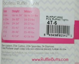 RuffleButts PLKP141T0000 Pink Ruffled Tights Size 4T to 6 image 7