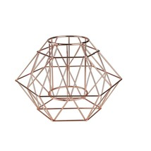 "Wild Eye 10.25"" Rose Gold Colored Diamond Geometric Angled Wine Bottle H... - $49.24"