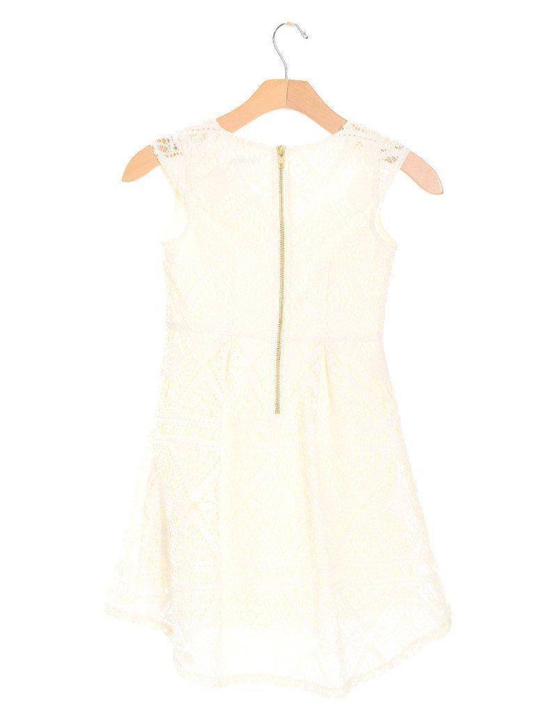 Girls sleeveless lace dress