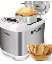 VIVREAL Bread Maker Automatic Machine 1.5LB Home Bakery Stainless - $17.82