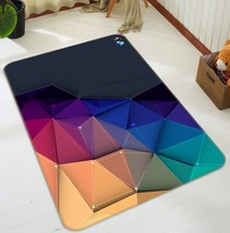 3D Triangle Geometry Line 3 Non Slip Rug Room Mat Quality Elegant Photo Carpet - $65.06+