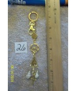 # purse jewelry gold color cross shell keychain backpack dangle charm #26 - $3.49